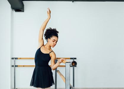 Young beautiful ballerina