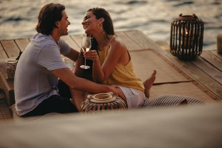 Most romantic holiday at a sea resort