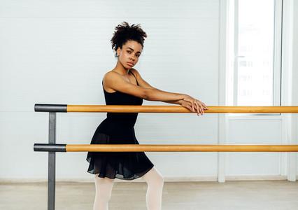 Young ballerina standing