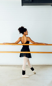 Back view of dancer