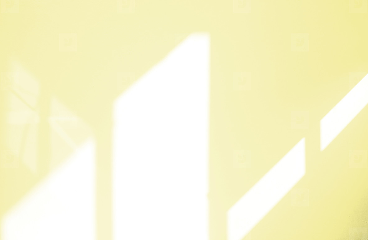 Window natural shadow overlay effect on yellow texture backgroun