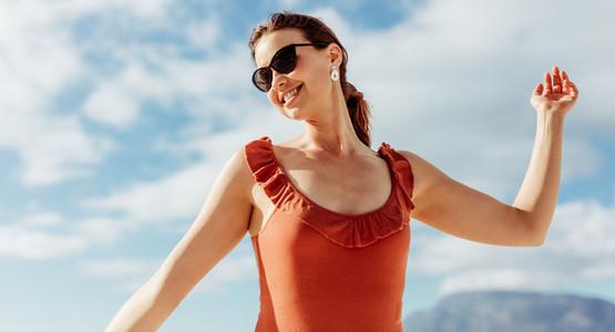 Woman enjoying her vacation