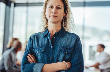 Real business woman portrait