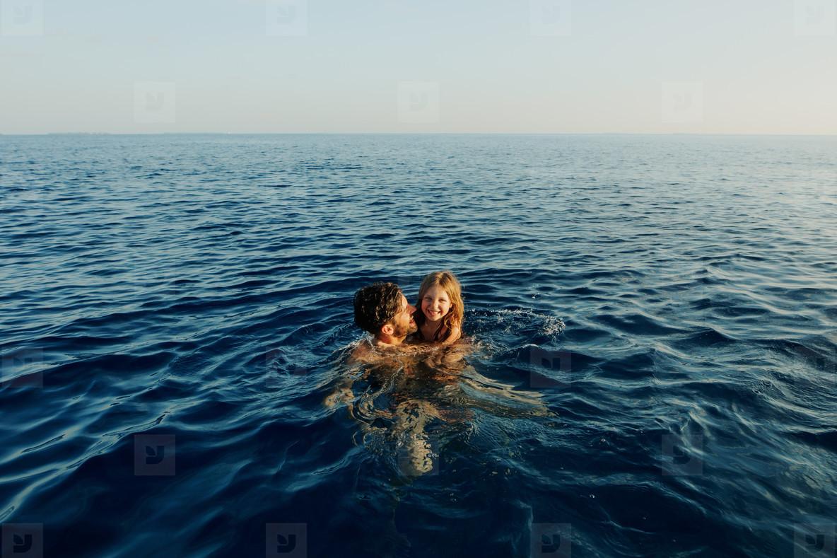Swimming in high sea