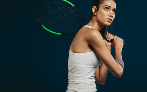 Sportswoman playing tennis