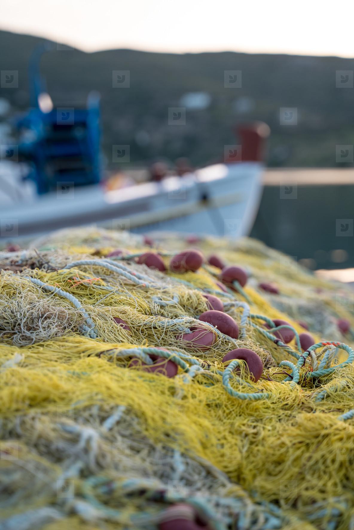 Fishing net in Greece