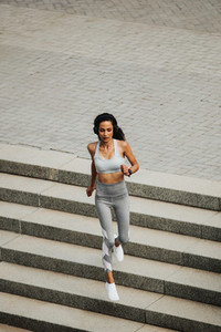 Sporty woman doing running workout