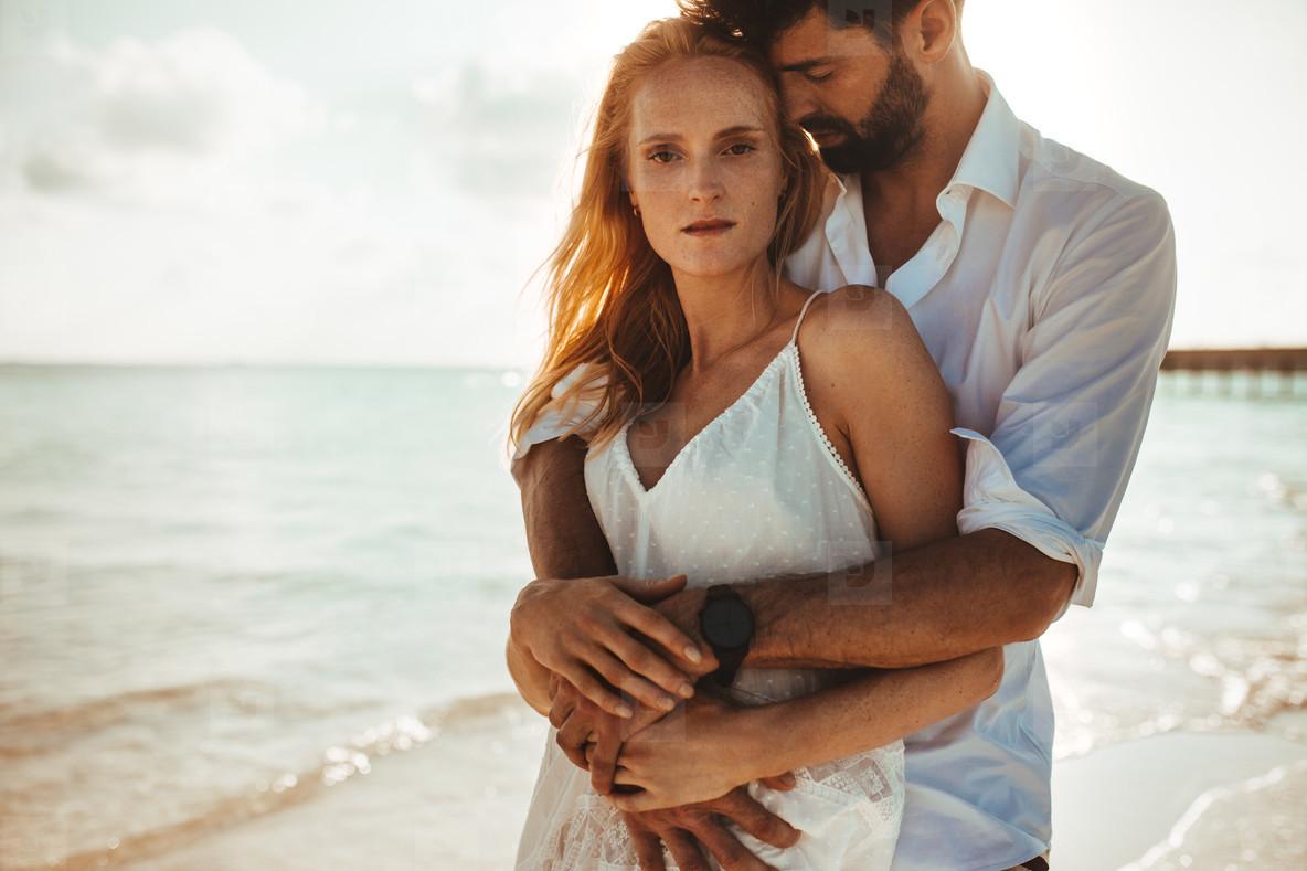 Couple on a beach vacation