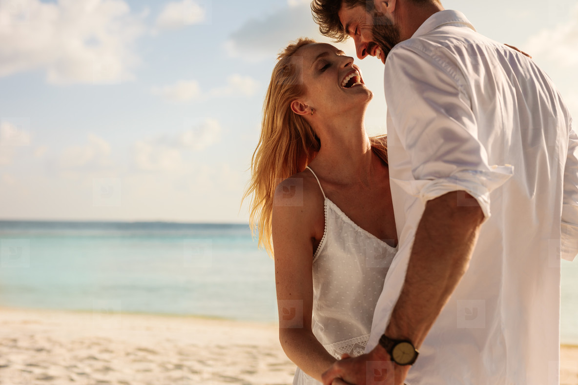 Couple on a honeymoon vacation