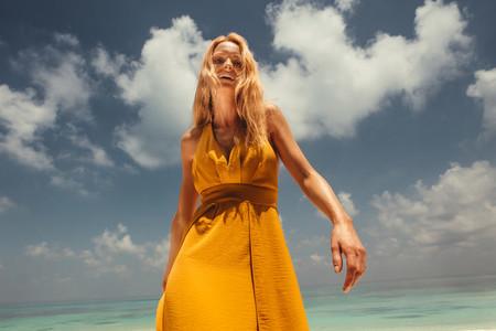 Woman enjoying holiday at the beach