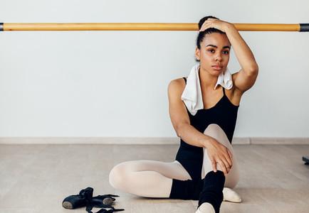Young ballerina in dancewear
