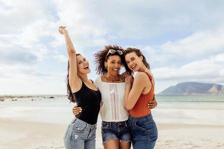 Women friends on a beach holiday