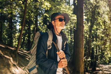 Portrait of mature hiker