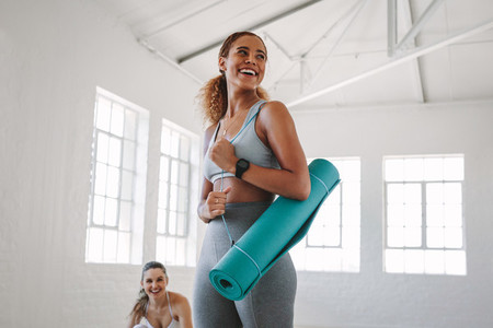 Fitness woman at a yoga class