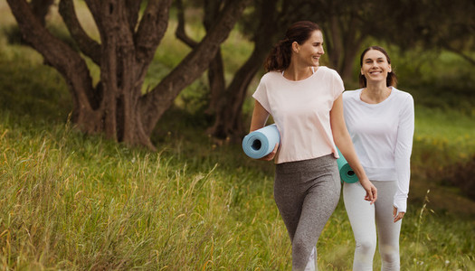 Fitness women going outdoors for physical fitness