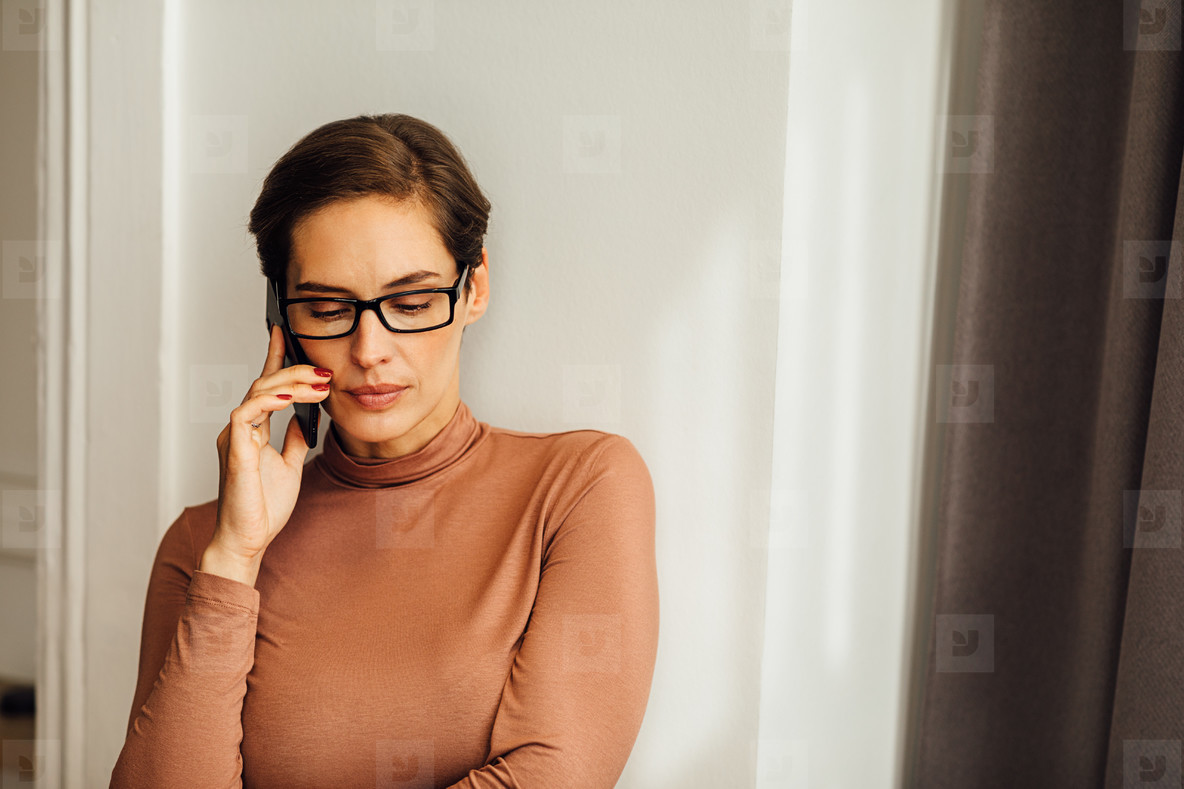 Relaxed businesswoman in casual