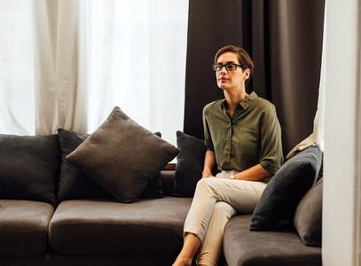 Confident businesswoman sitting