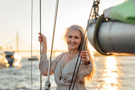 Attractive mature woman posing