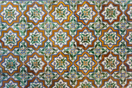 Ceramic walls in the Alhambra of Granada
