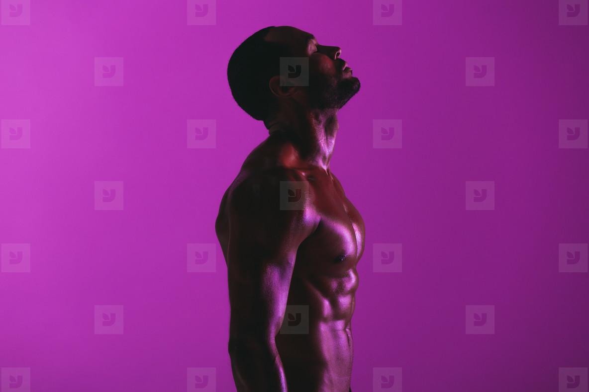 Portrait of a fit muscular man
