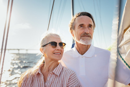Portrait of two senior people