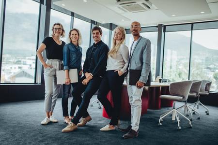 Team of successful corporate professionals