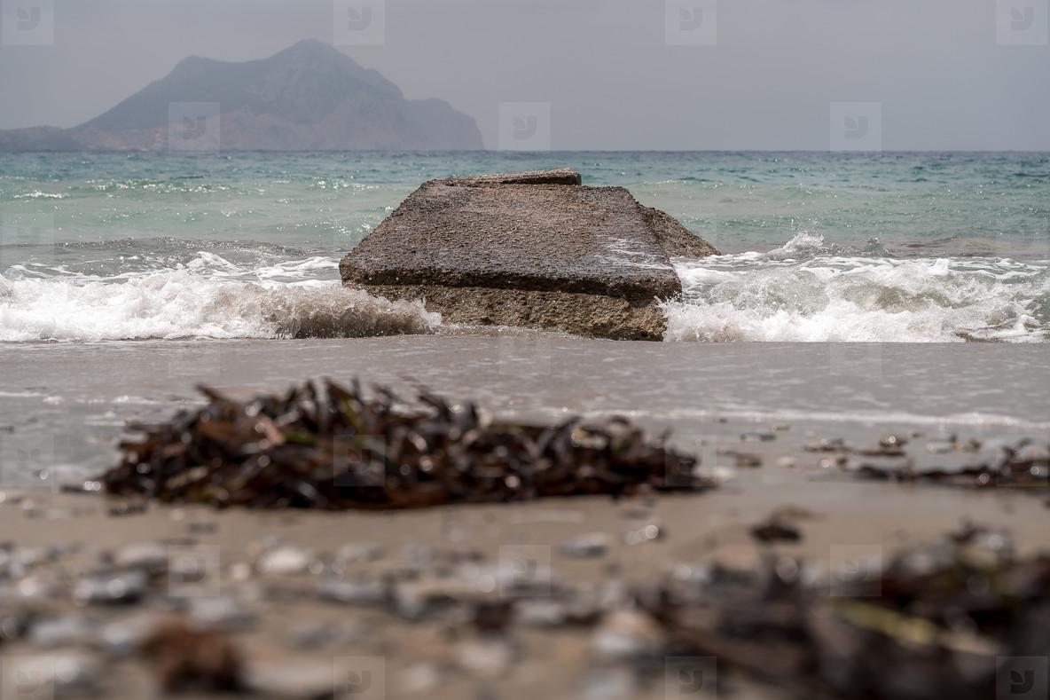 A damaged jetty