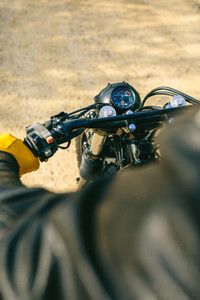 Motorcycle handlebar and odometer