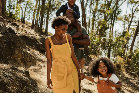 Family on adventure holidays