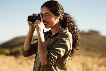 Portrait of a woman photographer