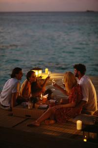 Luxury holiday on an overwater villa