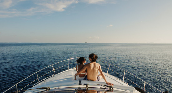 Romantic holiday on a yacht