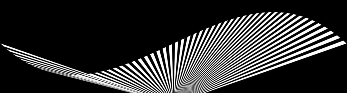 Wave black and white banner