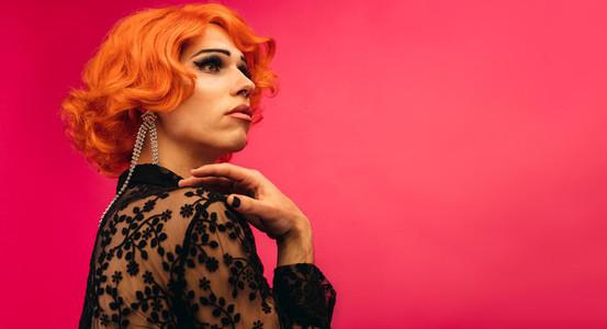 Elegant drag queen