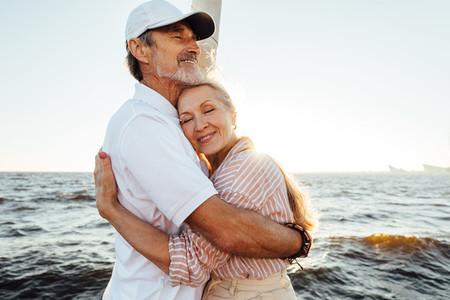 Affectionate senior couple