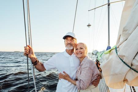 Loving senior couple enjoying