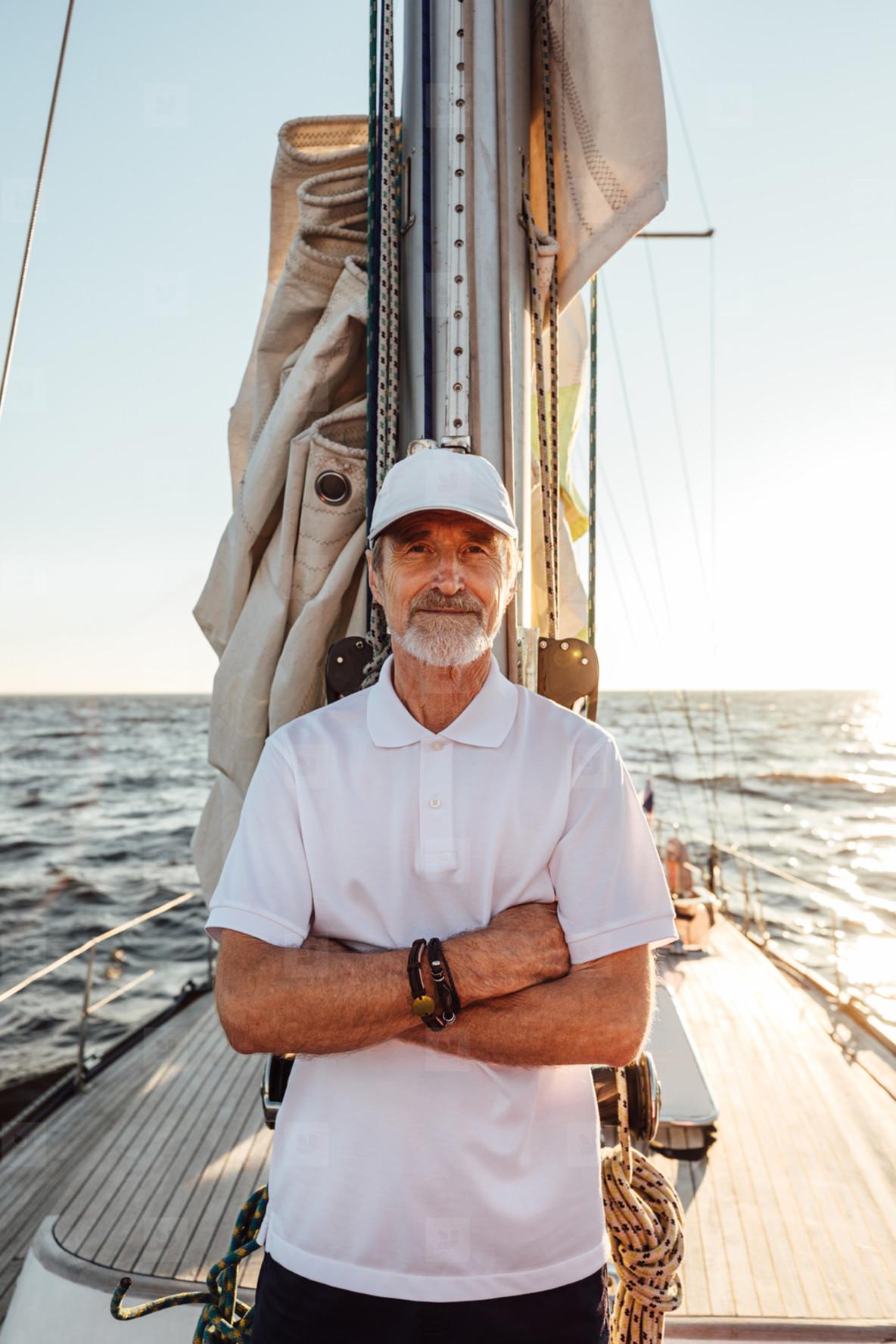 Portrait of a mature captain