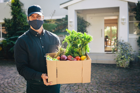 Contact free delivery of groceries during lockdown