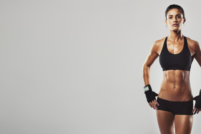 Fitness workout gives a healthy body