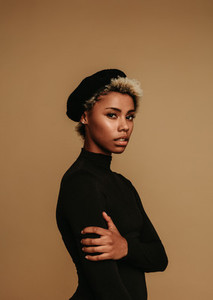 Portrait of fashionable african american woman