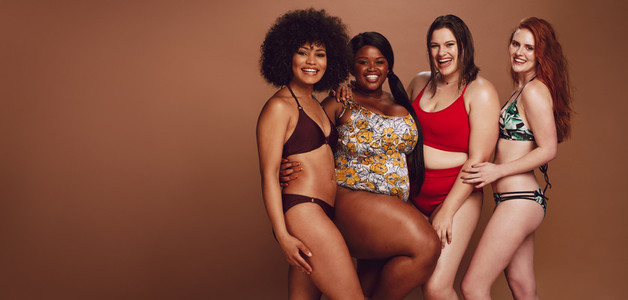 Diverse women in swimwear