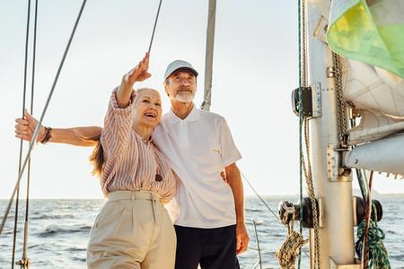 Senior couple enjoying the view