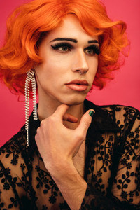 Glamorous drag queen