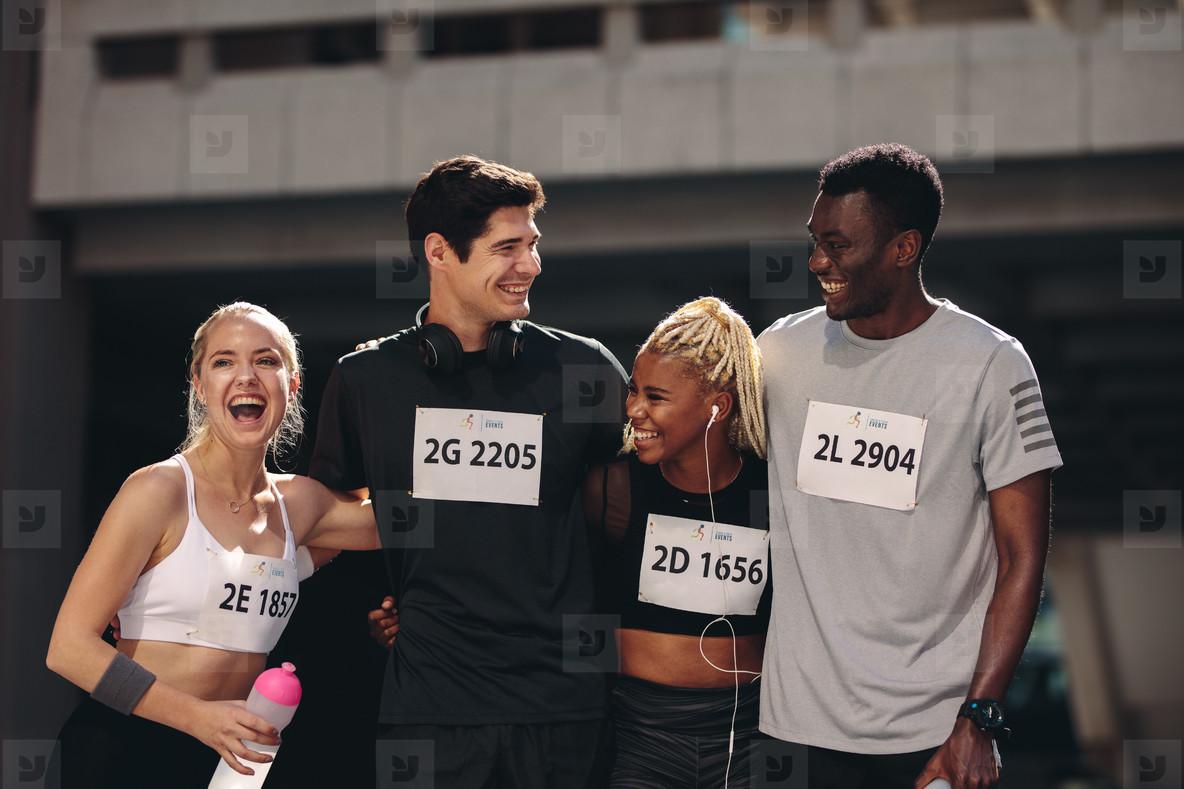 International marathon race runners