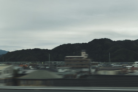 Hill view from Japan Rail train