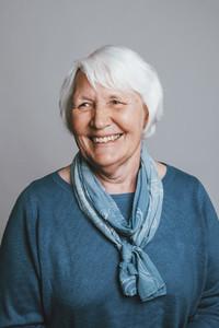 Portrait happy senior woman