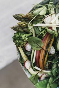 Close up vegetable salad