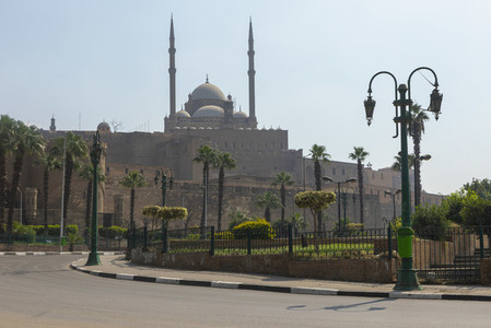 View of Mosque of Muhammad Ali on sunny day Cairo Egypt