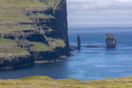 Risin and Kellingin rock formations Faroe Islands