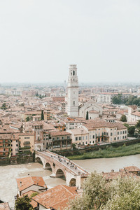 Scenic cityscape view Verona Italy